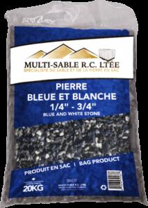 Pierre bleue et blanche